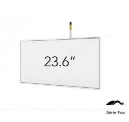 "KIT PAINEL FLEXIVEL TOUCH SCREEN RESISTIVO DE 23.6"" WIDESCREEN ANTI-GLARE DE 4 VIAS USB"