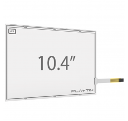 "KIT PAINEL TOUCH SCREEN RESISTIVO DE 10.4"" FORMATO 4:3 ANTI-GLARE DE 4 VIAS USB"