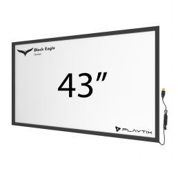 "TOUCH FRAME INFRAVERMELHO 43"" WIDESCREEN - SÉRIE BLACK EAGLE ULTRA"