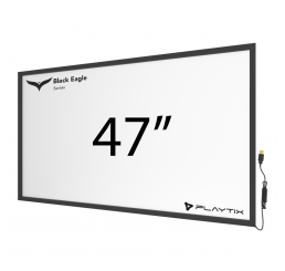 "TOUCH FRAME INFRAVERMELHO 47"" WIDESCREEN - SÉRIE BLACK EAGLE ULTRA"