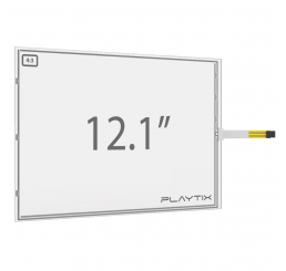 "KIT PAINEL TOUCH SCREEN RESISTIVO DE 12.1"" FORMATO 4:3 ANTI-GLARE DE 4 VIAS USB"